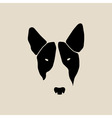 Bull terrier face Dog head vector image