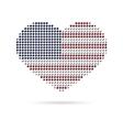 I love USA Creative heart flag vector image