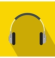 Headphones icon in flat style vector image