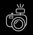 camera with flash vector image vector image