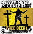 Heavy metal concert - free beer vector image vector image