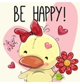 Be Happy Greeting card vector image