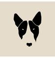 Bull terrier face Dog head vector image
