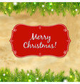 Christmas Tree Frame With Label vector image