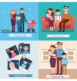 Happy Family with Newborn Baby Set vector image