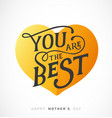 mothers day greeting card with golden heart vector image
