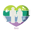 soft colour card wedding and valentines day vector image