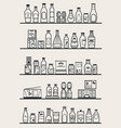store shelves with goods vector image