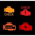 Engine check sign vector image vector image