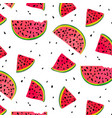 watermelon parts food slices of red summer vector image