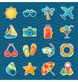 Travel and tourism sticker icon set vector image
