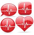 electronic cardiograms vector image vector image