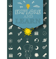 Educational poster with science symbols vector image