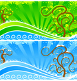 stylized landscape vector image vector image