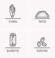 Mexico culture set 3 vector image