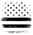 American Flag Background Grunge Aged Black vector image