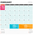 Calendar Planner 2016 Design Template with Place vector image