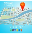 City map with navigation markers vector image