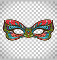 colored mask in butterfly colors vector image