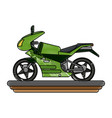 sport motorcycle vehicle vector image