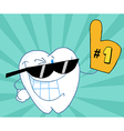 Smiling Tooth Number One vector image vector image