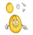 Happy ripe yellow melon fruit vector image vector image