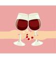 wine cups vector image