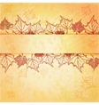 Autumn maple leaf frame with copy space on vector image