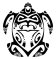 maori tribal turtle vector image