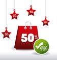 Hot price shopping design vector image