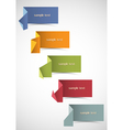set of origami banners for design vector image