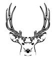 Abstract deer head tribal tattoo vector image