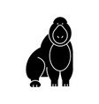 gorilla icon sign o vector image