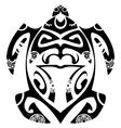 maori tribal turtle vector image