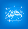 merry christmas hand written lettering design vector image