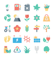 Nature and Ecology Colored Icons 3 vector image