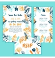 Save the Date card with Vintage floral frame menu vector image