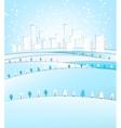03 City winter landscape vector image