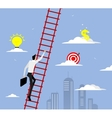 Businessman with suitcase climbing the stairs vector image vector image