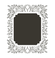 silhouette rectangle border heraldic with vector image