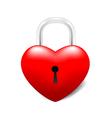 Grossy Locked Heart vector image