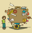 excess baggage vector image vector image