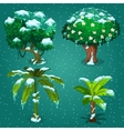 Four tropical plants in the ice vector image vector image