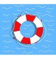 Lifebuoy on the water Flat style vector image
