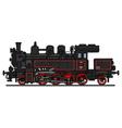 Vintage steam locomotive vector image