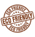 eco friendly brown grunge round vintage rubber vector image