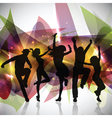 Silhouettes of people dancing vector image