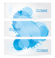 abstract blue elements vector image