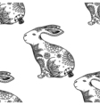 background with rabbits vector image
