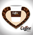 Coffee design over white background vector image